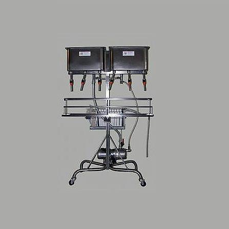 Spagni 6 fejes töltőgép 20 keretes lapszűrővel