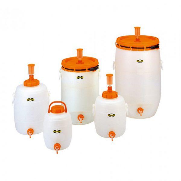 Műanyag erjesztőtartály - kerek - 12-120 liter