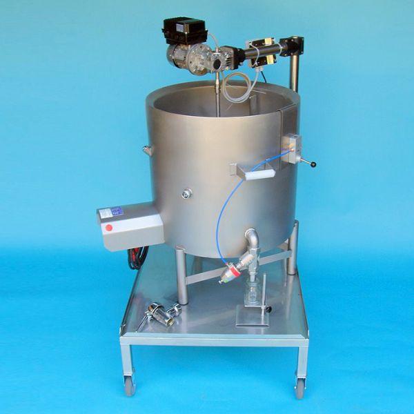 Elektromos főzőüst, glicerinfürdőben fix - / 50l - 150l