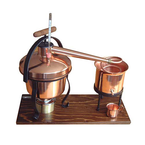 Mini lepárló hőmérővel illóolaj, pálinka készítéséhez