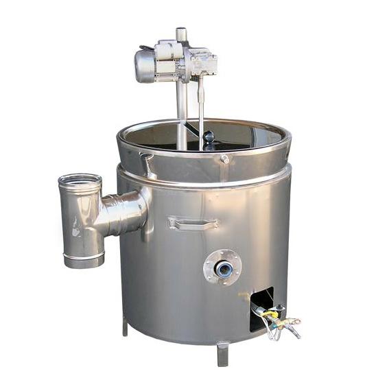 Duplafalú gázos lekvárfőző elektromos keverővel / 36l - 390l
