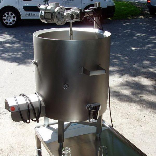 Elektromos főzőüst, glicerinfürdőben - mozgatható / 50l - 150l