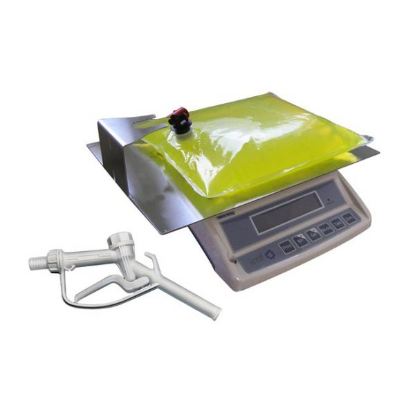 Bag-in-box töltés segítő komplett szett (mérleg, pisztoly, állvány)